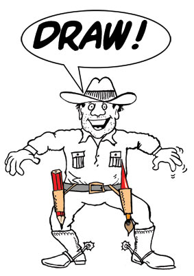 cowboy draw About cartoonist...