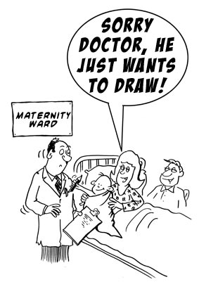 maternityward About cartoonist...